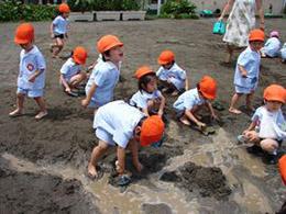 7月8日 どろんこ遊び・・・子供達が一番好きな遊びでです。
